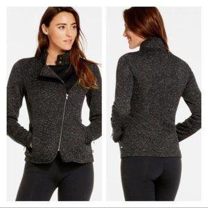 Fabletics Calypso Knit Asymmetrical Grey Jacket